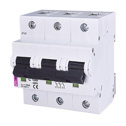 Автоматический выключатель ETI С 100A 3p 10kA 2135732 - 1