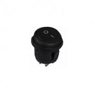 Перемикач 1 клав. круглий вологозахищений KCD1-5-101W B/B АСКО