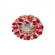 Светильник точечный  MR-16 G5.3 50W красный/золото