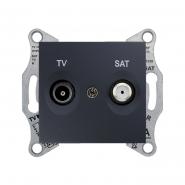 Розетка TV/SAT оконечная 1db графит