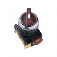 Кнопка  ANCLR-22-3 красная на 3 фиксированных  положения 230B I-0-II 1з+1р ИЕК
