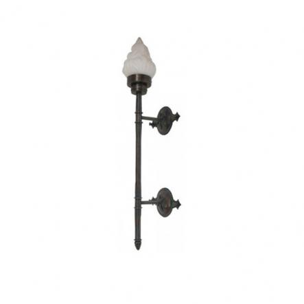 Светильник садово - парковый Palace 6844B/1А-L 60W E27 темная медь мат. стекло - 1