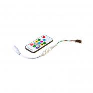Контроллер #80 RGB mini Smart strip 6А - радио сенсорный  14 кнопок 72W/5-24V для бегущей ленты