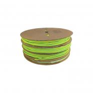 Трубка термоусадочная ТТУ 10/5 жёлто-зеленая 100м.рул ИЕК