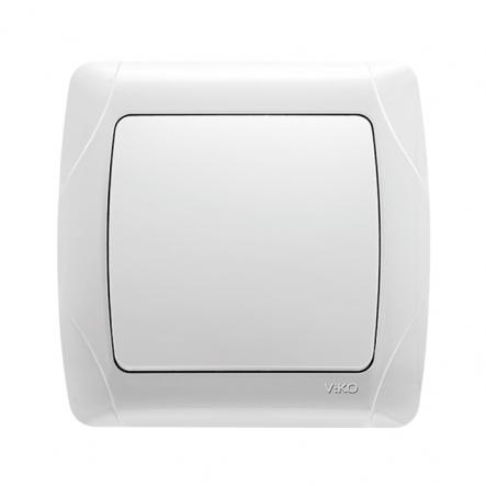 Выключатель одноклавишный белый VIKO Серия CARMEN - 1
