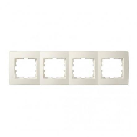 Рамка четырехместная Lezard Lesya горизонтальная кремовый 705-0300-149 - 1