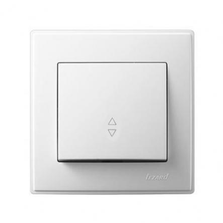 Выключатель проходной одноклавишный Lezard Lesya 10 А 250В белый 705-0202-105 - 1