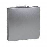 Выключатель одноклавишный алюминий Unika