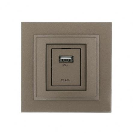 Розетка USB-зарядка, Mono Electric, DESPINA (бронза) - 1