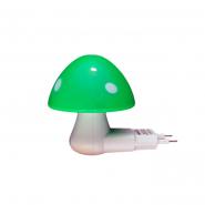 Ночник Lemanso Гриб 3 LED 6500K с сенсором зелёный