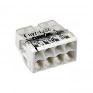 Клеммник  WAGO 8* (1,0-2,5мм.кв.) медь без наполнителя прозрачный