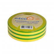 Изолента жёлто-зелёная 0,11мм*18мм 18м АСКО ECO