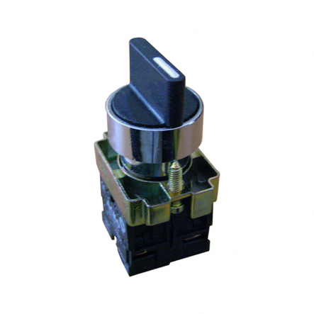 Кнопка XB2-BD41 поворотная 2-х поз. с самовозвр. Станд. ручка ACKO-УКРЕМ - 1