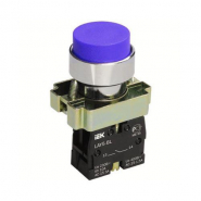 Кнопка управления LAY5-BL61 без подсветки синяя 1з ИЕК
