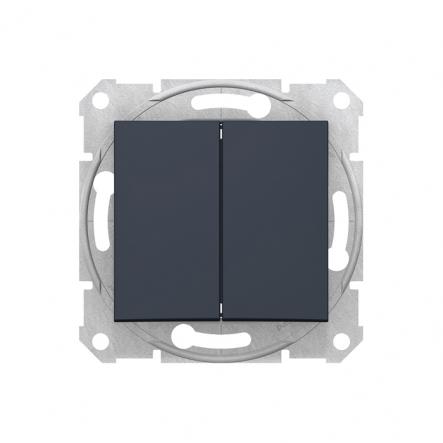 Выключатель 2 кл. графит - 1