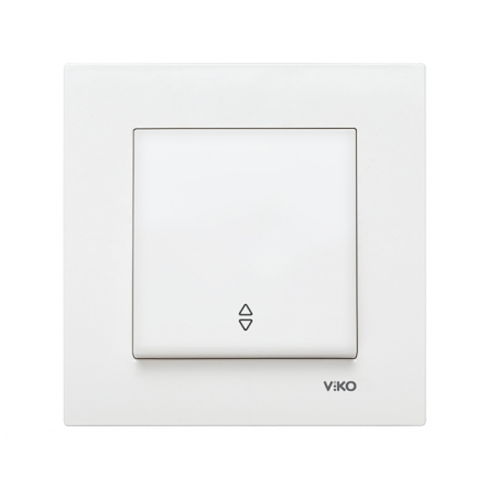 Выключатель одноклавишный на 2 направления белый KARRE VIKO - 1