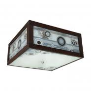 Люстра Модерн квадрат припотол (3л)  венге глянец