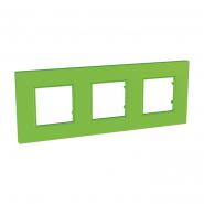 Рамка 3-местная Bio UNIKA QUADRO зеленая