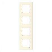 Рамка четверная вертикальная крем VIKO Серия KARRE