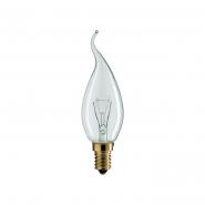 Лампа  РHILIPS  ВXS-35 пламеобразная прозрачная 25Вт Е14
