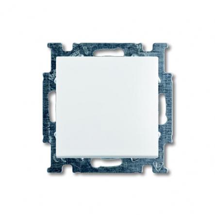 Выключатель одноклавишный встраиваемый проходной ABB белый Basic 55 - 1