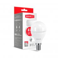 Лампа LED G45 F 6W 3000K 220V E14 Maxus