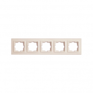 Рамка 5-я, Mono Electric, DESPINA (белый)