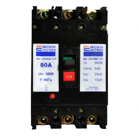 Автоматический выключатель ВА-2004N/125 3р 80А АСКО - 1