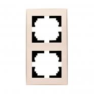 Рамка 2-я вертикальная Lezard серия RAIN