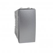 Выключатель одноклавишный 1 модуль алюминий Unika