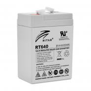 Аккумуляторная батарея AGM RITAR RT640.Gray Case.6V 4Ah (70x47x99(107)) Q20