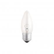 Лампа свеча 60С1/CL/E27 GE прозрачная