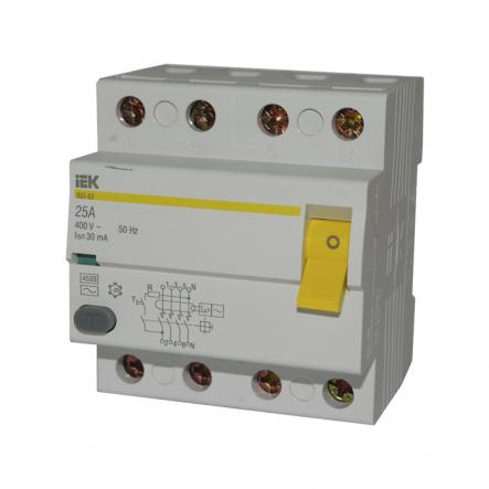 Устройство защитного отключения УЗО IEK ВД1-63 4p 25A/30мА - 1