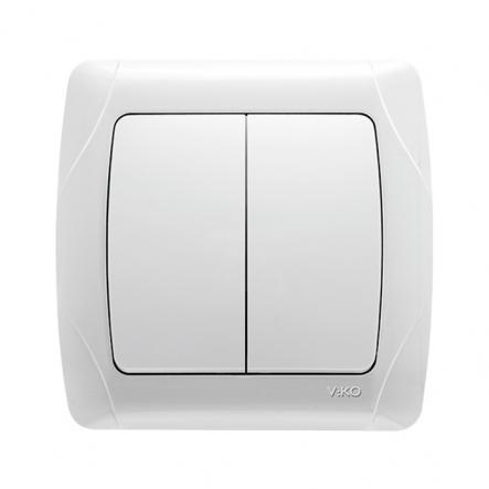Выключатель двухклавишный белый VIKO Серия CARMEN - 1