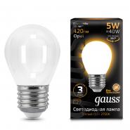 Лампа Gauss LED Filament Шар OPAL E27 5W 420lm 2700K