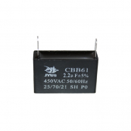 Конденсатор для запуска CBB-61 2,2мкФ 450В VAC 38x17x28 на клеммах