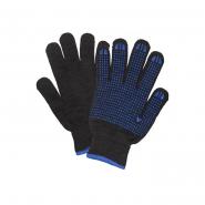 Перчатки с ПВХ черные 7кл (461)
