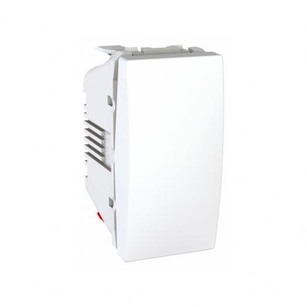 Выключатель одноклавишный белый Unika - 1