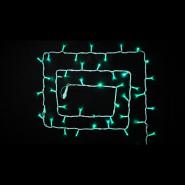 Гирлянда внеш_DELUX_STRING_100LED 10m (2*5m) 20 flash зелен/бел IP44 EN