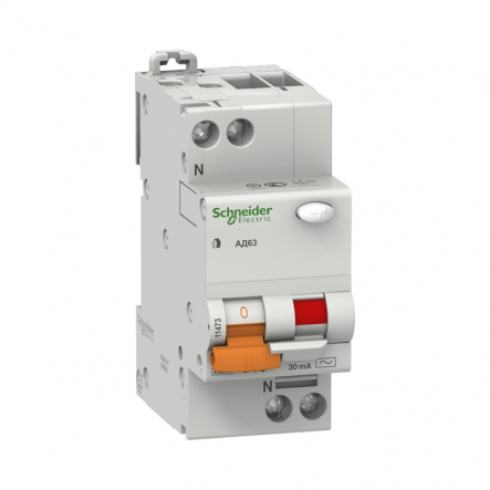 Диф. авт. АД 63 2п 25А 30мА Schneider Electric 11474 - 1