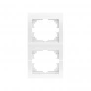 Рамка двойная вертикальная белый DERIY LEZARD