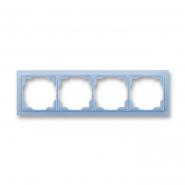 Рамка четверная Neo белый/синий лед