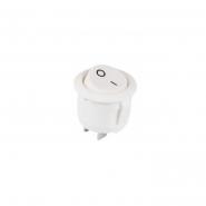 Переключатель 1кл круглый белый KCD1-5-101 WH/WH АСКО