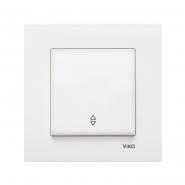 Выключатель одноклавишный на 2 направления белый  KARRE VIKO