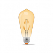 Лампа LED VIDEX Filament ST64FA 6W E27 2200K 220V бронза