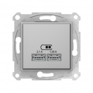 Розетка USB 2.1A титан Sedna