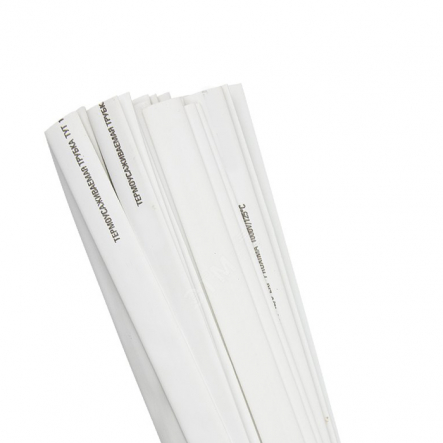 Трубка термоусадочная ТТУ 1/0,5 белая 1 м ИЕК - 1
