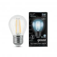 Лампа Gauss LED Black FIL G45 5W E27 4100K