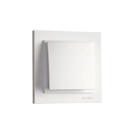 Выключатель 1кл. Mono Electric, DESPINA (белый) - 1