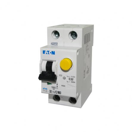 Дифференциальный автоматический выключатель PFL6-32/1N/C/0.03 MOELLER - 1